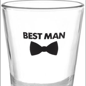 Best Man Shot Glass